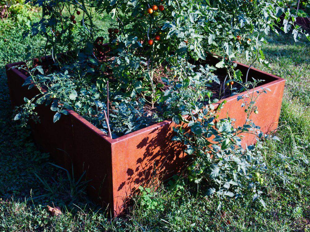 bac de jardin acier corten