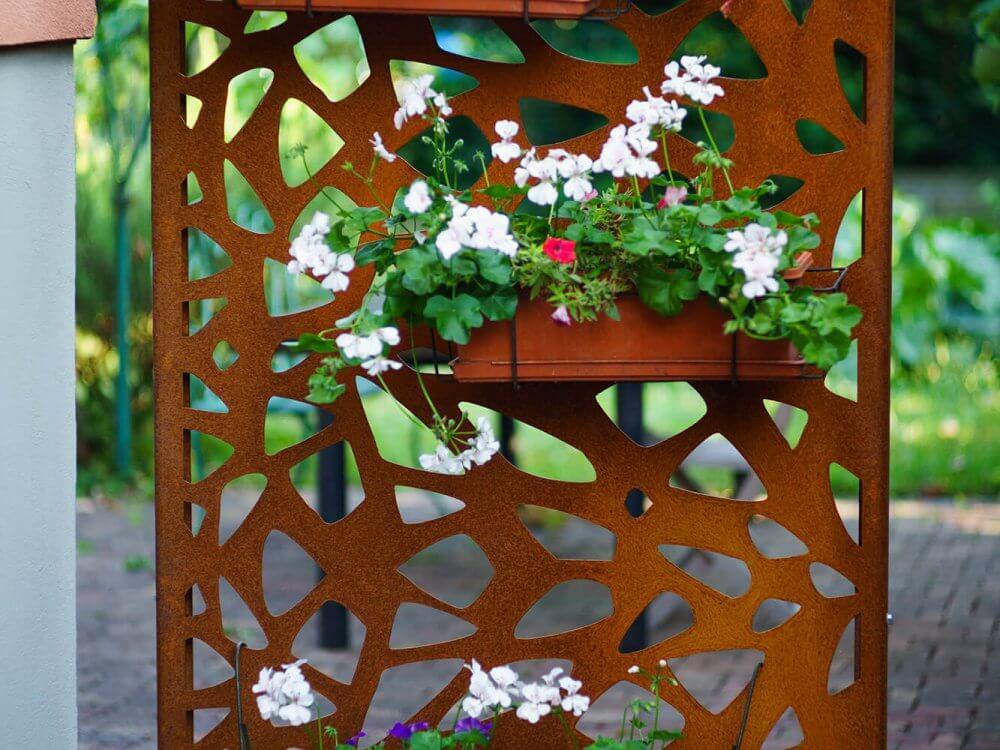 decoration jardin acier corten