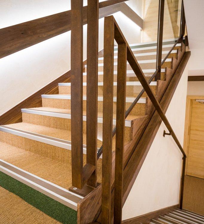 rampe escalier en acier corten