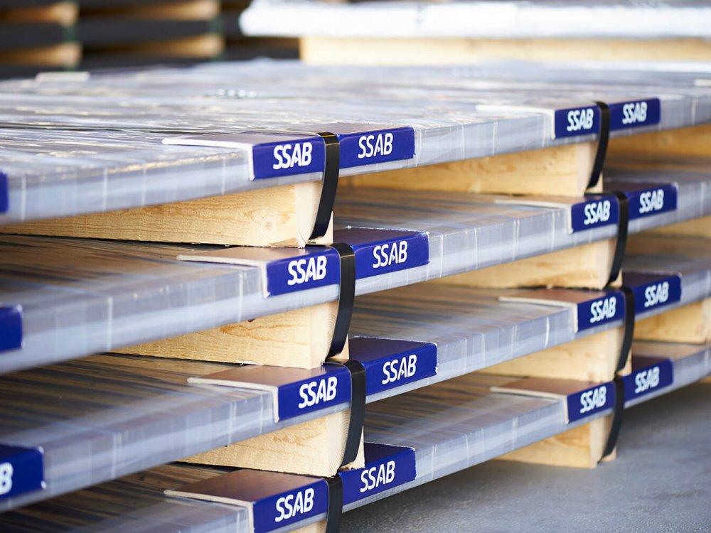 stockage SSAB plaque de tole
