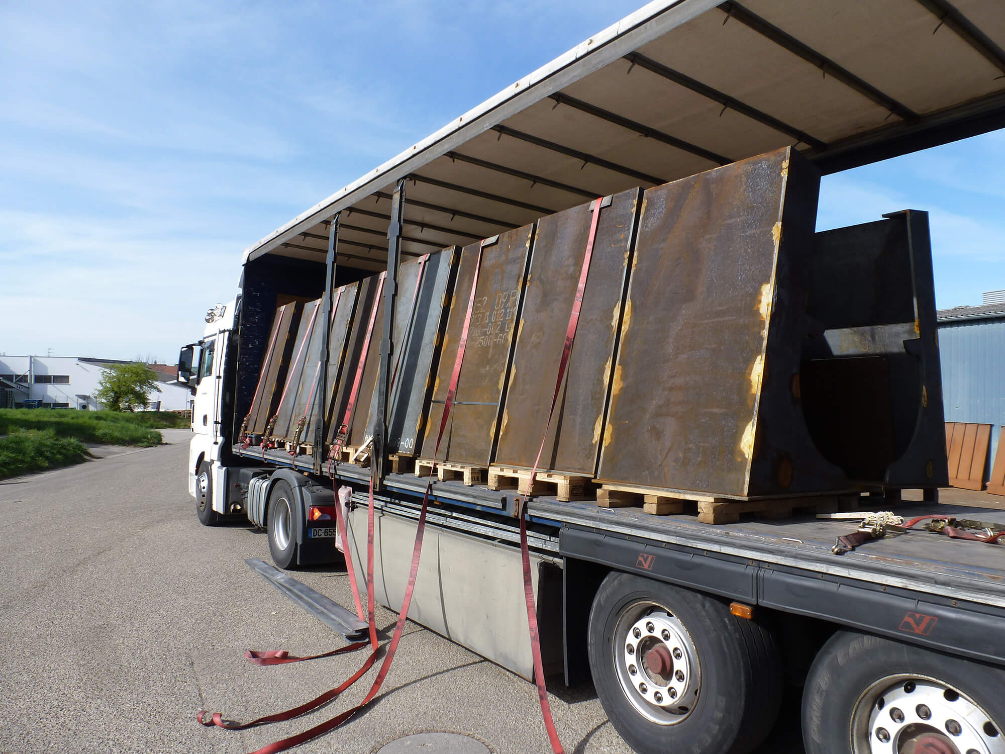 transport plaques corten